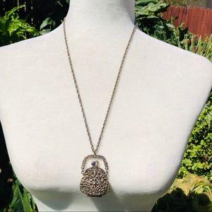 Unique vintage purse necklace